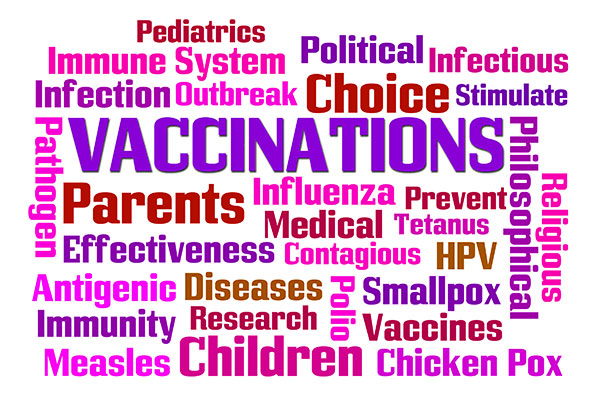 Pediatric Vaccinations Word Cloud